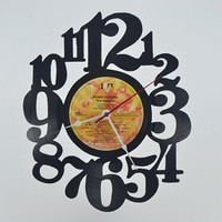 Unique Handmade Vinyl Record Wall Clock (artist is Kenny Rogers)