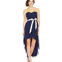Teeze Me Strapless Hi-Low Dress | Dillards.com