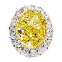 16.30 Fancy Intense Yellow Diamond Ring