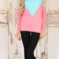 Double the Fun Top MINT/Pink - Modern Vintage Boutique