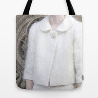 Tote Bag - Fashion Tote - Vintage Inspired - New York Photo - Fashion Photography - Retro Market Bag - Snow - Winter Shopping Bag