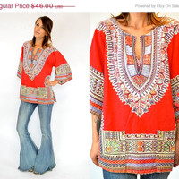 25% OFF SALE BOHEMIAN wide sleeve Hippie ethnic dashiki Tunic top blouse, extra small-medium