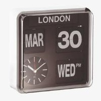FLAP Black Plastic Multi-city wall clock - Clocks - Habitat