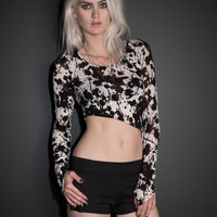 See You Monday Splatter Asymmetrical Long Sleeve Top