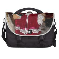 Beautiful Retro Christmas Love Have a Nice Day Commuter Bag