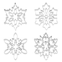 Giant Snowflake Stainless-Steel Cookie Cutter Collection