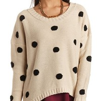 HI-LO POLKA DOT SWEATER
