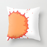 Splat on White - by Friztin Throw Pillow by friztin