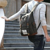 Legioner City canvas backpack - olive Snygg ryggsäck by Ubackpack