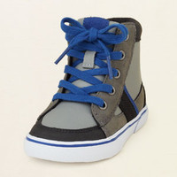 baby boy - shoes - indie hi-top sneaker | Children's Clothing | Kids Clothes | The Children's Place