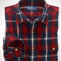 Custom-Fit Plaid Workshirt