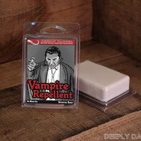 Stocking Stuffers for Geeks - VAMPIRE REPELLENT Scented Soap by Deeply Dapper - Perfect Gag Gift for the Vampire Hunter in your life