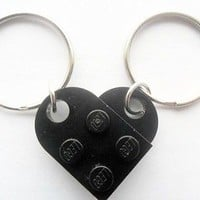 LEGO friendship, girlfriend, boyfriend,friends Heart key chain set Black