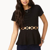 Forget Me Not Cutout Peplum Top