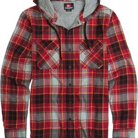 QUIKSILVER SPRAY FACE LS HOODED FLANNEL