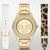 PAVE EMBELLISHED MULTI-FUNCTION WATCH GIFT SET
