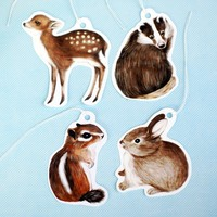 Handmade Gifts | Independent Design | Vintage Goods Woodland Animals Gift Tag Set - i love her!