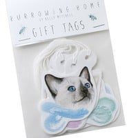 Handmade Gifts | Independent Design | Vintage Goods Cute Cats Gift Tag Set - Paper Goods - For The Home