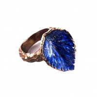 Blue Leaf Ring | NOT JUST A LABEL