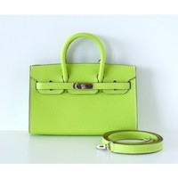 Hermès Kiwi Epsom Limited Edition Miniature Birkin Bag