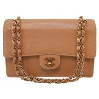 Chanel Brown Stitched Quilted Caviar Leather Coco Flap Bag
