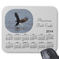 2014 Bald Eagle Calendar Mouse Pad