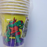 Vintage Set of 8 TMNT Birthday Party Cups 1989