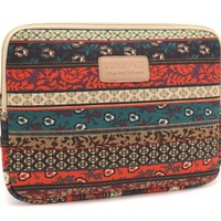 Kinmac 2013 New Bohemian Style Canvas Fabric 15.6 Inch Laptop Sleeve Macbook Pro 15 Retina / Macbook Pro 15 Sleeve Case Dell / Hp /Lenovo/sony/ Toshiba / Ausa / Acer /Samsun Ultrabook Bag Cover