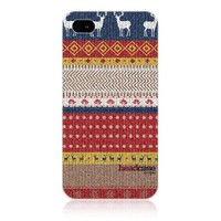 Head Case Sweater Knitted Christmas Design Protective Back Case Cover for Apple iPhone 4 4S