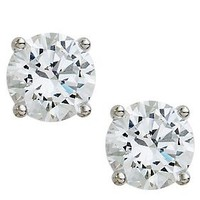 Epiphany Diamonique 100-Facet 4.00 ct tw RoundStud Earrings — QVC.com