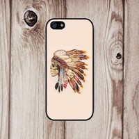 D&fcase® Native Amrican Skull Rubber and Iphone 5 Case - Personalized, Friendship Bestfriend Gift Fits Iphone 5 T-mobile, At&t, Sprint, Verizon and All International Carriers