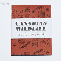 Canadian Wildlife - A Mini Colouring Book