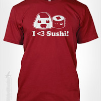 I heart Sushi Limited - Japanese food culture rice roll Tokyo Japan traveling souvenir Asian cute love kawaii tshirt t-shirt tee shirt