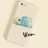 Monsters University Anime iPhone 5S case - Anime Mike Wazowski iPhone 4/4S/5/5S Case - Anime Sulley iPhone 5 Case