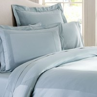 ITALIAN 600-THREAD-COUNT SATEEN DUVET COVER & SHAM - PORCELAIN BLUE