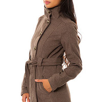 The Torrey Melton Coat in Taupe