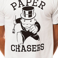 The Paper Chasers Tee in White