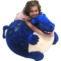 Massive Dragon Bean Bag: An Adorable Fuzzy Plush to Snurfle and Squeeze!