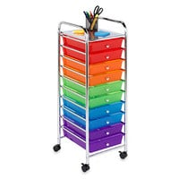 Honey-Can-Do Steel 10-Drawer Rolling Storage Cart