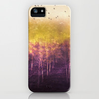 Purple rain iPhone & iPod Case by SensualPatterns
