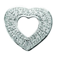 Story by Kranz & Ziegler Sterling Silver And Pave Cubic Zirconia Open Heart Charm - Story By Kranz & Ziegler from Jon Richard UK