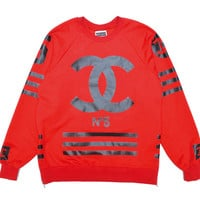 Cyber Monday deal COCO NUMBER 5 SWEATSHIRT-Red