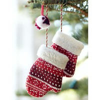Red Mitten Pair Ornament