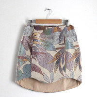 Asymetric high waisted jacquard skirt