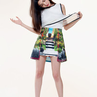 FABITORIA 2013SS digital printed skirt - Dreamland garden