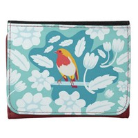 Coloured Robin - Floral Wallet