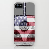 VW Rusty USA iPhone & iPod Case by Alice Gosling
