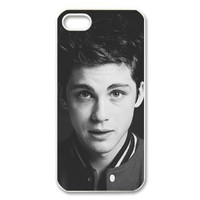Custom Logan Lerman Back Cover Case for iPhone 5 5s PP-0304