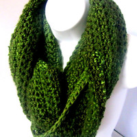 Holiday Sparkle Crocheted Wraparound Scarf