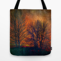 silhouettes Tote Bag by Sylvia Cook Photography